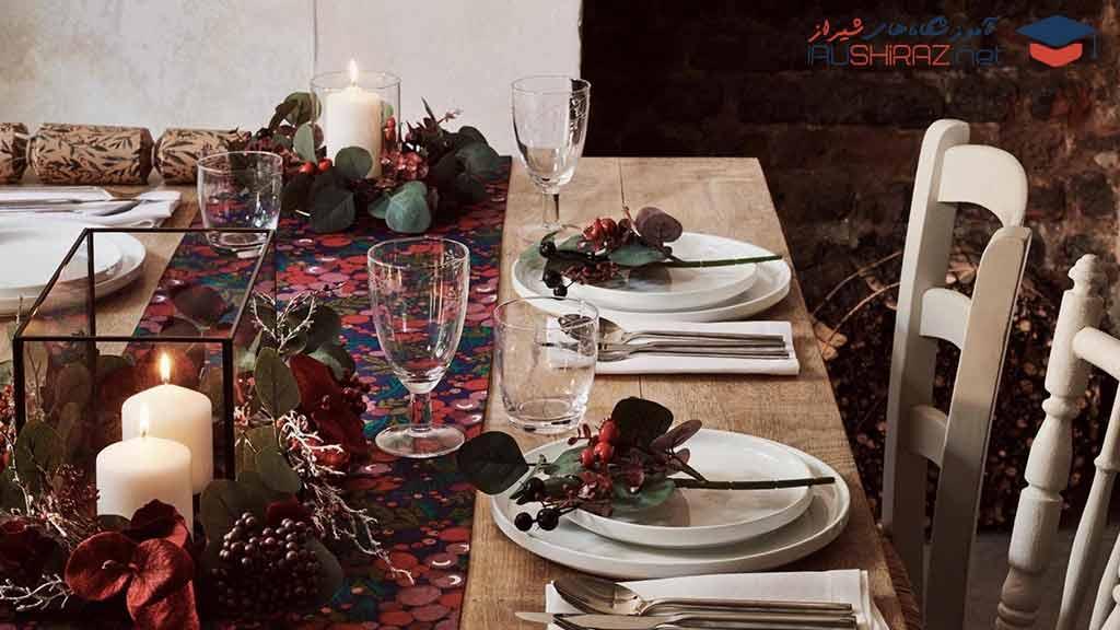 آموزش میز آرایی و سفره آرایی در شیراز